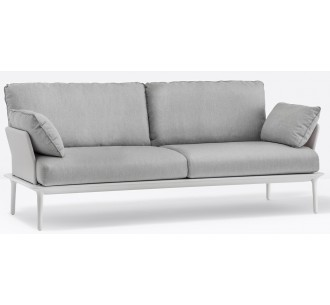 Reva 3θέσιος καναπές αλουμινίου με μαξιλάρια