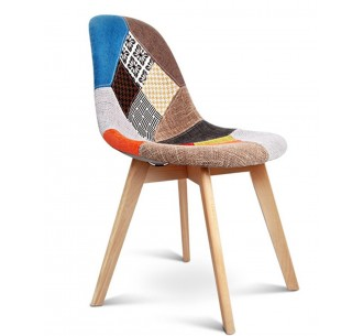 JENNA καρέκλα ξύλινη Patchwork